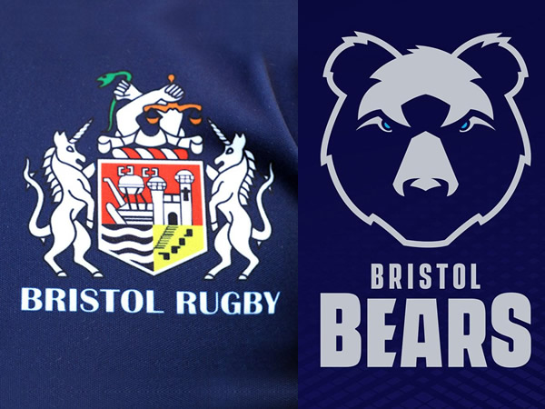Visuals of Bristol Rugby's rebranding in one of Breakfast Town's branding blogs