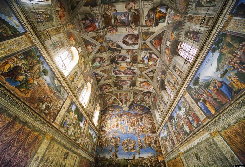 Photo of Sistine Chapel in Breakfast Town blog about how can you value a great creative idea