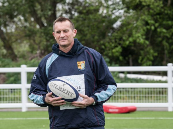 Photo of Andrew Barrington: coaching in rugby and managing in business